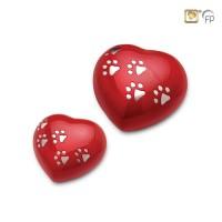 Mosazné urničky ve tvaru srdce